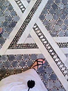 #floorcore marble mosaic in Rome photocredit LaCatrina.it