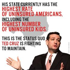 Ted Cruz, because the Koch brothers pay him. And he let his own insurance lapse from carelessness and is politicizing his own failure by blaming his lack of insurance on obamacare. Caricatures, Troll, Koch Brothers, Republican Party, Religion, Politics, Humor, Feelings, Sayings