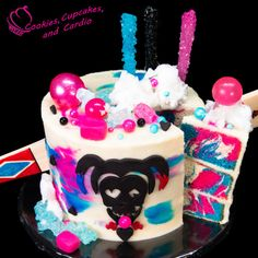 Image result for harley quinn unicorn cake