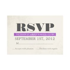 #Typography #Wedding #RSVP Cards