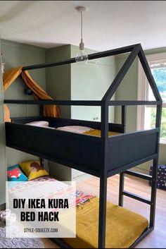 Kura Cama Ikea, Kura Bed Hack, Ikea Kura Hack, Ikea Hack Kids, Ikea Hacks, Ikea Bed, Ikea Kids Bed, Kid Beds, Bunk Beds
