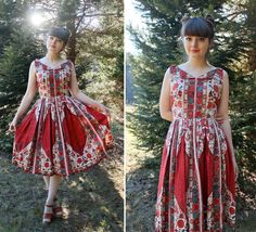 Beautiful Floral Stacy Ames Dress with Collar and by forthebeloved, $150.00