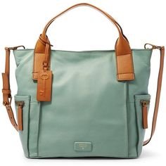 Fossil Emerson Satchel Zb6722116 Color: Seaglass (3.429.840 IDR) ❤ liked on Polyvore featuring bags, handbags, green handbags, satchel purse, vintage leather handbags, vintage leather purse and fossil purses
