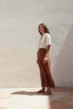 First Rite SS17 The pants color is gorgeous. Cropped tops are hard for me because I'm so long waisted.