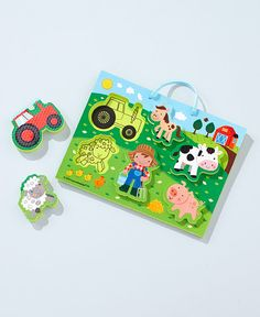 The Chunky Puzzle Playset is great fun for your little one in and out of the bath. The thick puzzle pieces can be placed on the foam board or placed to cli