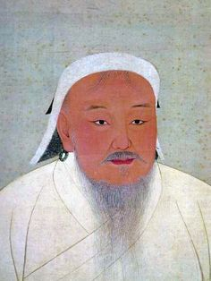 Mongol leader Genghis Khan (1162-1227) rose from humble beginnings to establish the largest land empire in history.  He as huge chunks of China and Asia.