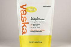 Vaska announces Vaska Dish - safe, phosphate-free, chlorine-free, natural dishwasher tablets.