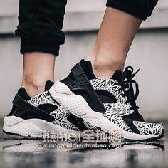 2015 #shoes #womens #sneakers  Sport Shoes 704943-002 Nike Sportswear Air Huarache Run Burst White Black