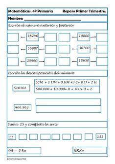 Math Skills, English Lessons, Fourth Grade, Teaching Resources, Periodic Table, Classroom, Education, School, Peru