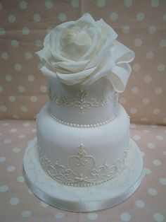 small wedding cake 2 by JILL's Sugar Collection, via Flickr