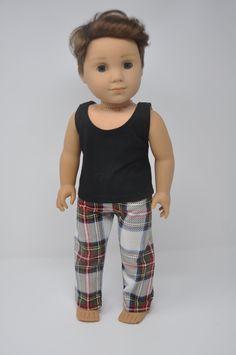 "Boy Robot Pajamas-Top /& Sleeping Pants fits 18/"" American Girl Doll Clothes"