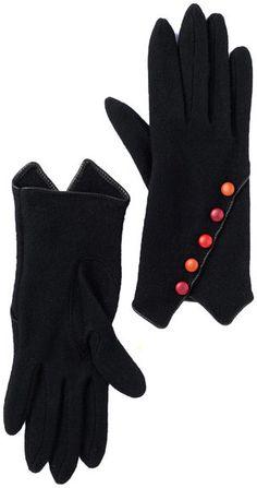 Vincent Pradier Multi Button Wool Gloves
