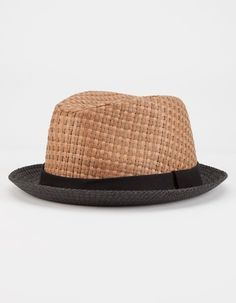 565deef642345 BLUE CROWN Straw Mens Fedora - CHEST - HWR-42098