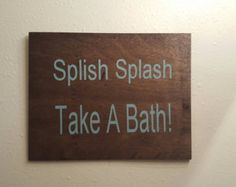 Wash away your worries bathroom sign laundry room by PeavyPieces