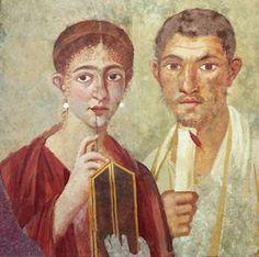 Terentius Neo und seine Frau, zwei Bewohner Pompejis (Nationalmuseum von Neapel)
