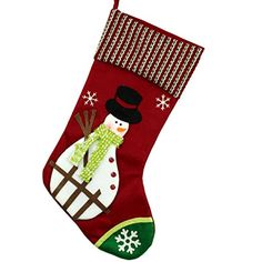 SimpVale Christmas Stockings Closet Decoration Snowman and Santa Claus 41 cm25 cm white ** Check this awesome product by going to the link at the image.
