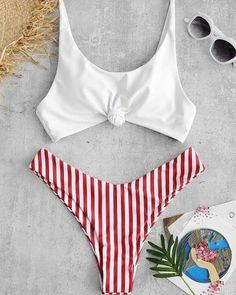 Shop trendy fashion swimwear online, you can get sexy bikinis, swimsuits & bathing suits for women on ZAFUL. Bikini Push Up, High Cut Bikini, Haut Bikini, Bandeau Bikini, Bikini Swimsuit, Bikini Beach, Sexy Bikini, Thong Bikini, Cute Swimsuits
