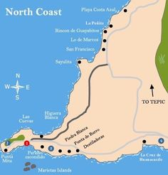 go to punta mita mexico this is a map of puerto vallarta where you will fly in 9 hrs from nyc i read that many stars go to punta mita and they