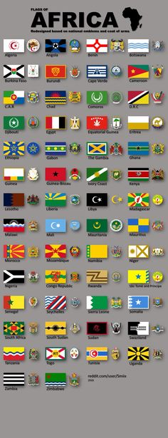 ALL flags of Africa redesigned, based on national emblems and coat of arms. Gernal Knowledge, General Knowledge Facts, All Flags, Flags Of The World, History Of Flags, World History Facts, Map Symbols, Africa Flag, African Map