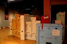 Image result for museum packing crate