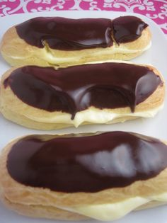 Gluten-Free Eclairs! I made theses and they didn't rise.  I think they need more flour as it looked more like cake batter than dough.  Will try again.  Still tasted amazing.  I just made sandwiches with them.