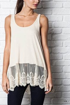 Layering Lace Trimmed Tanks!   Jane