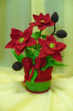 Flores de crochê.  Seleção para inspiração (6) (464x700, 198Kb)