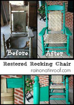 DIY Furniture  : DIY Restored Rocking Chair {Summer Spruce-Up Wildcard}
