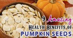 Health benefits of Pumpkin Seeds.