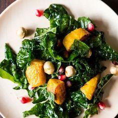 Hearty Kale Salad with Kabocha Squash, Pomegranate Seeds, and Toasted Hazelnuts Recipe on Food52 recipe on Food52
