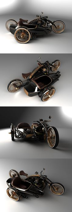 "♂ Steampunk Chopper ""Black Widow"" in production. from http://solifdesign.blogspot.com/2011/08/steampunk-chopper-black-widow-in.html"
