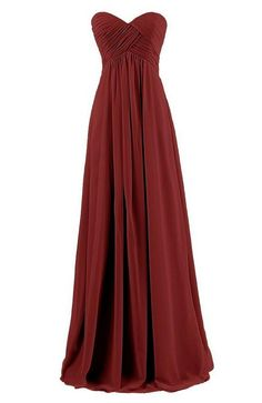 Chiffon Simple Long Prom Dresses A-line Wedding Party