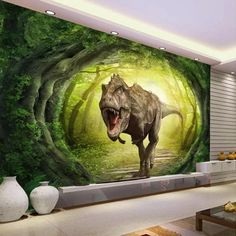 US $8.1 46% OFF|Beibehang Custom wallpaper black and white Tiger TV background walls animal modern minimalist living room bedroom 3d wallpaper|Wallpapers|   - AliExpress