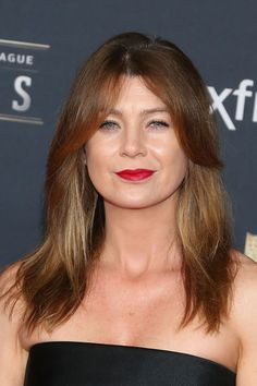 Short layers on top, long layers underneath: Ellen Pompeo's haircut is the 2015 version of the shag.