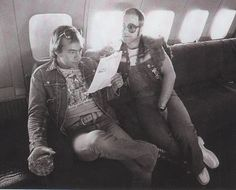 With Bernie Taupin