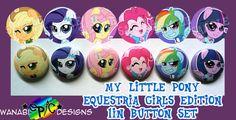 MLP Equestria Girls 1in Button Set
