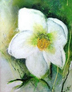 """Michaela Steinacher, """"Christrose I"""" Mit einem Klick auf 'Als Kunstkarte versenden' versenden Sie kostenlos dieses Werk Ihren Freunden und Bekannten."""