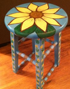 Painted stool