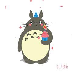 Day 65. Totoro loves birthdays!