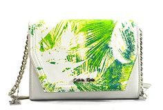Calvin Klein Hailey Convertible Crossbody Bag Purse Clutch, White Green * Be sure to check out this awesome product.