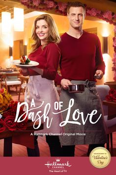 A Dash of Love stars Jen Lily and Brendan Penny who set up a pop-up restaurant for Valentine's Day.
