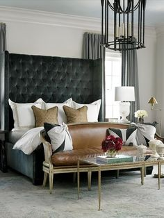 elegant black bedrooms