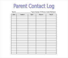 Phone Conversation Log Template  Workouts Log Templates
