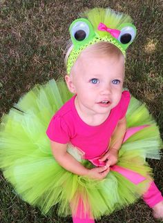 Pretty Princess Frog Costume Green Frog Tutu by MissMadelynsBows