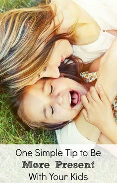 Want to be more present with your kids? This one easy tip can help make it happen!