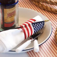 American Flag Napkin Holders home usa flag america patriotic red white blue decorate 4th of july party ideas napkins table setting entertaining