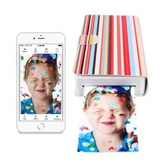 The PicKit Portable Photo Printer allows you to print photographs anywhere directly from your iPhone, iPad or Android device. Mobile Photo Printer, Portable Photo Printer, 41st Birthday, Smartphone, Ipad, Iphone, Awesome Things, Diy, Tech