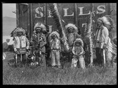 Performers in Miller Brothers 101 Ranch Wild West Show  Names: unknown.  Tribe: Possibly one of the Lakota Tribes.  Date: 1929