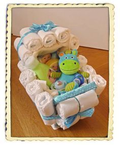 Ein wirklich tolles Geschenk zur Geburt! Der Windelkinderwagen, bei dem man alles verwenden kann! Hier geht es zur Anleitung: http://www.windeltorten-macher.de/anleitungen/windelkinderwagen