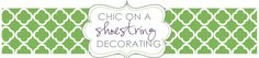 Chic on a Shoestring decorating blog....also linky parties for decor and crafty ideas